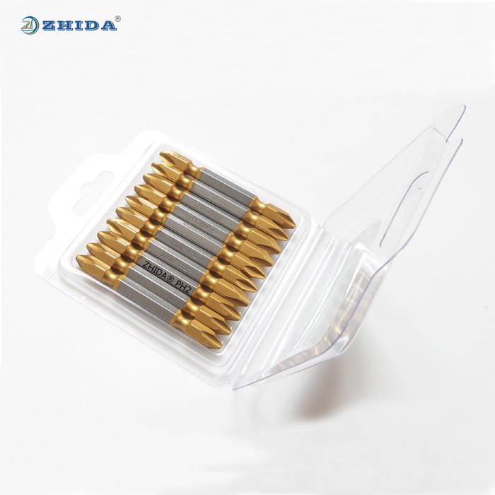 TiN coating Double ended screwdriver bits PH2